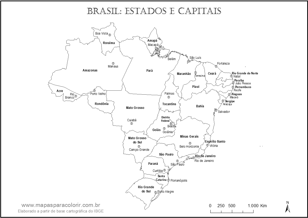 Well-known Mapas do Brasil para colorir YR44