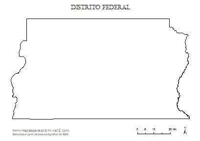 Mapa do Distrito Federal.