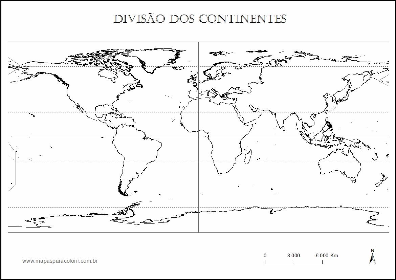Mapa Mundi Para Colorir Politico E Continentes