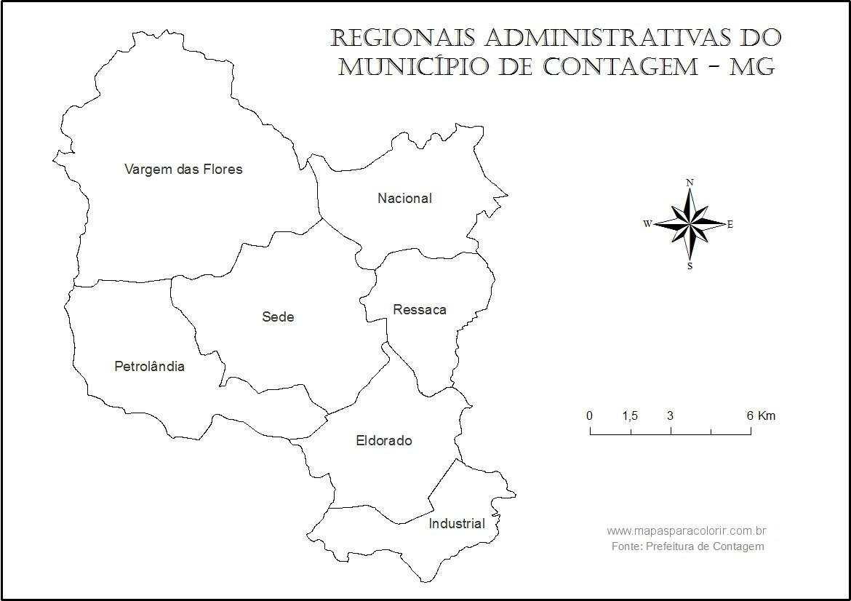 Para Colorir E Localizar As Regionais