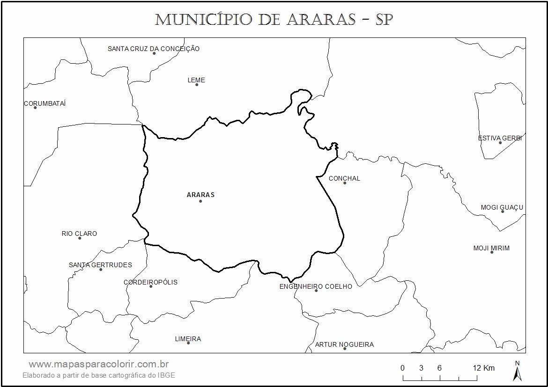 Mapa De Araras Mapas Para Colorir