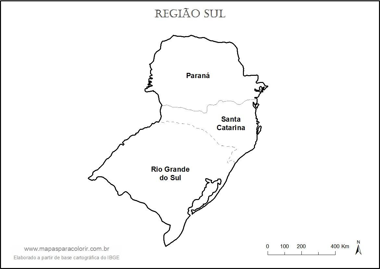 Aparador Wengue Y Plata ~ Mapa da Regi u00e3o Sul para colorir